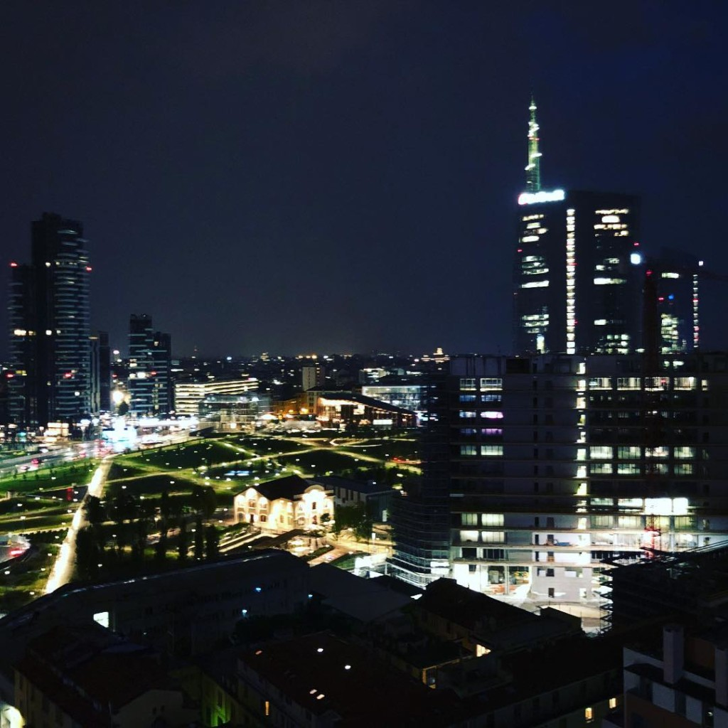 Milano skyline from a rooftop